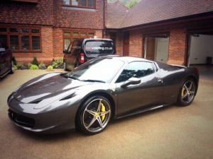 A gorgeous Ferrari after a valet from mmvaleting - car valeting and detailing in Buckinghamshire.